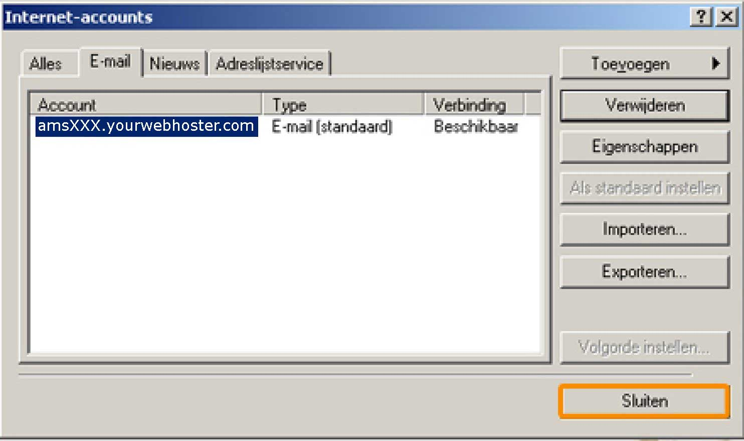 outlook express nl 14